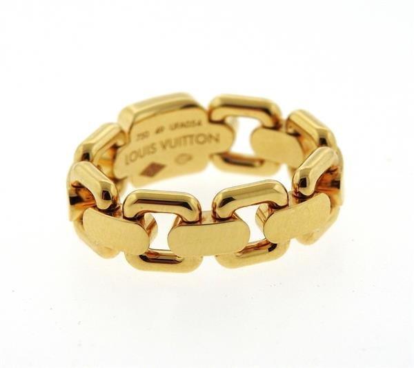 Louis Vuitton 18k Gold Link Band Ring - 2