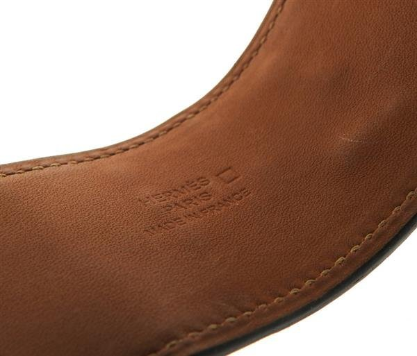 Hermes Collier de Chien Alligator Leather Wide Bracelet - 5