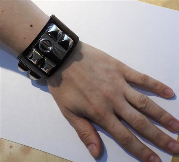 Hermes Collier de Chien Alligator Leather Wide Bracelet - 6