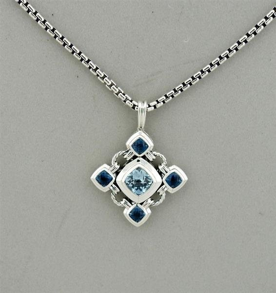 David Yurman Renaissance Sterling Silver Blue Topaz - 2