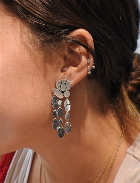 John Hardy Kali Menari Sterling Chandelier Earrings - 6