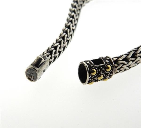 John Hardy Dot  18K Gold Silver Chain Bracelet - 2