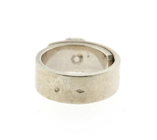 Hermes Sterling Silver Kelly Lock Charm Ring - 3