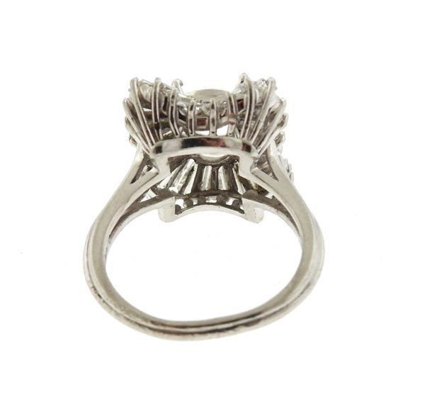1950s Platinum Diamond Ring Mounting Setting - 3