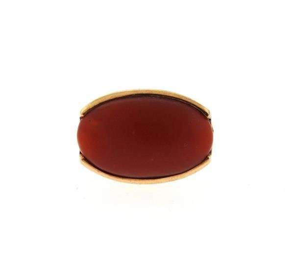 18K Gold Coral Ring