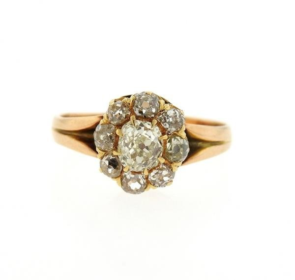 Antique Victorian 14K Gold Diamond Ring