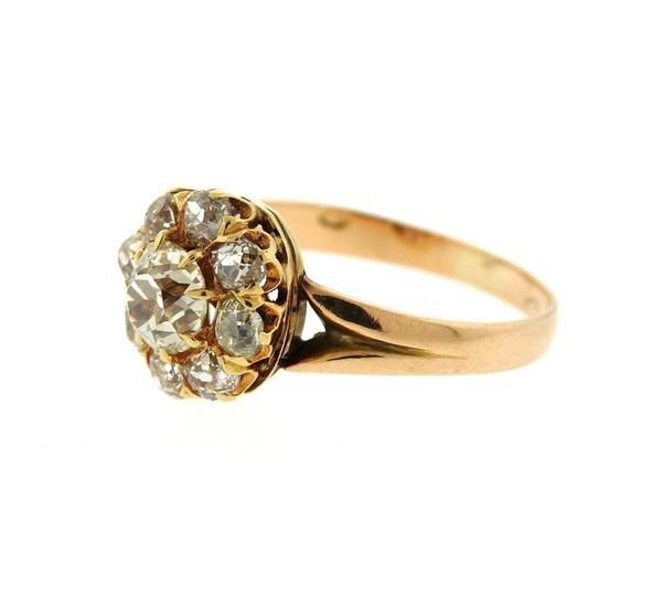 Antique Victorian 14K Gold Diamond Ring - 2