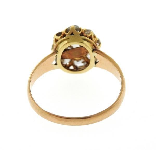 Antique Victorian 14K Gold Diamond Ring - 3