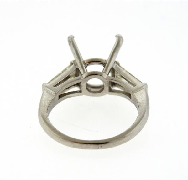 Mid Century Platinum Diamond Ring Mounting - 2