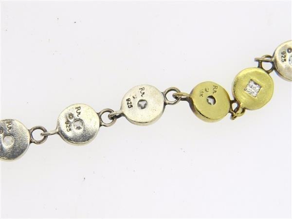 Robin Rotenier 18K Gold Sterling Sapphire Medallion - 2