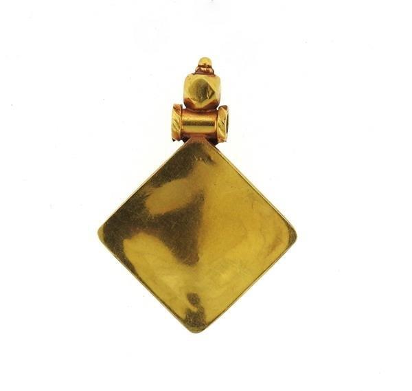 22k Gold Ruby Pendant - 3