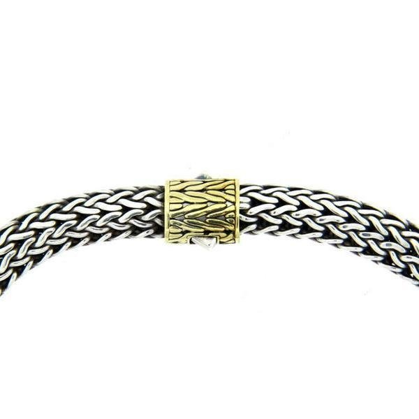 John Hardy 18K Gold Sterling  10mm  Wide Wheat Necklace - 2