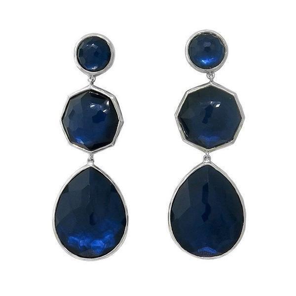Ippolita Sterling  Rock Candy Quartz MOP Drop Earrings
