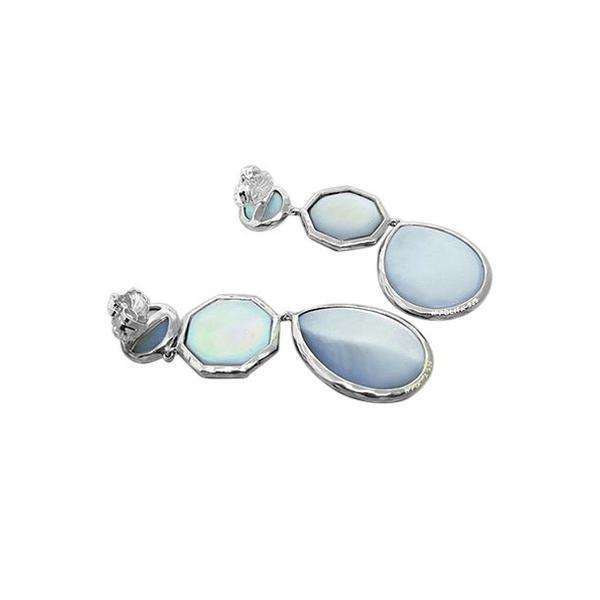 Ippolita Sterling  Rock Candy Quartz MOP Drop Earrings - 2