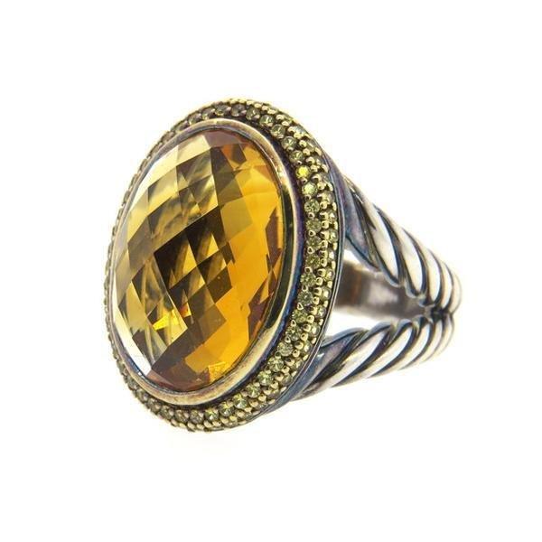 David Yurman 18K Gold Sterling Citrine Yellow Sapphire