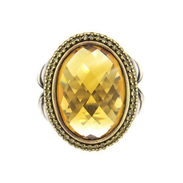 David Yurman 18K Gold Sterling Citrine Yellow Sapphire - 2