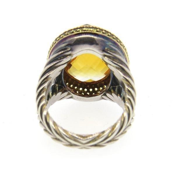 David Yurman 18K Gold Sterling Citrine Yellow Sapphire - 3