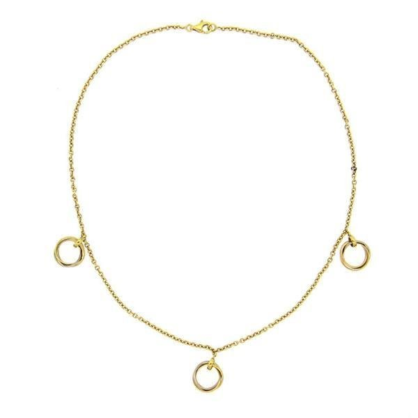 Cartier Trinity 18K Gold Rolling Pendant Necklace