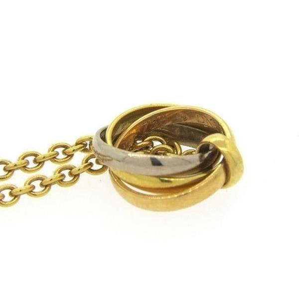 Cartier Trinity 18K Gold Rolling Pendant Necklace - 3