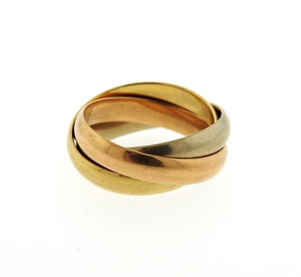 Cartier Trinity 18K Tri Color Gold Ring - 2
