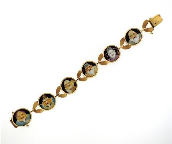 18k Gold  Japanese Toshikane  Bracelet