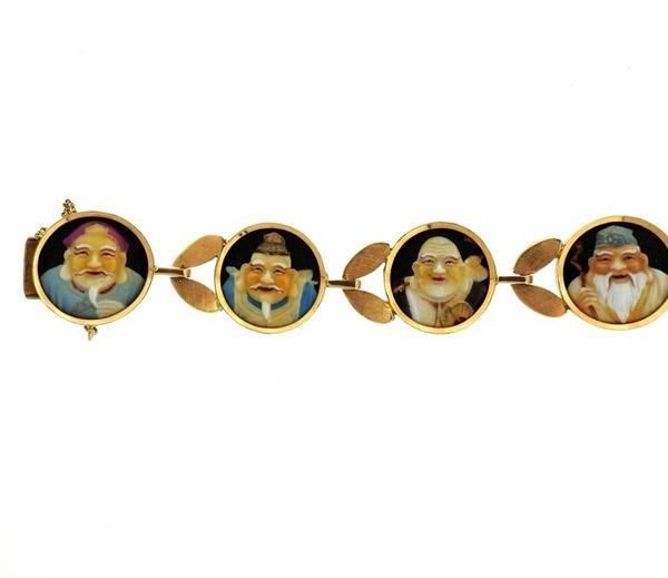 18k Gold  Japanese Toshikane  Bracelet - 3