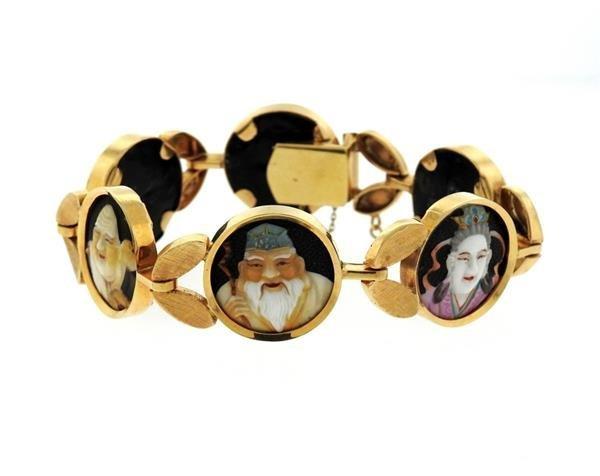 18k Gold  Japanese Toshikane  Bracelet - 5