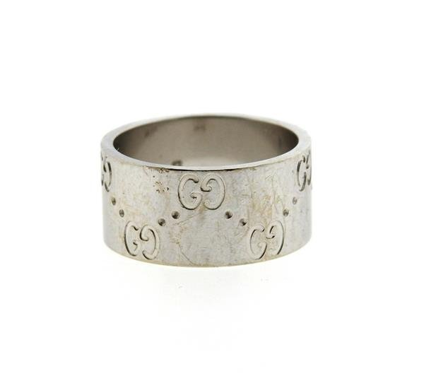 Gucci 18k Gold Wide Band Ring