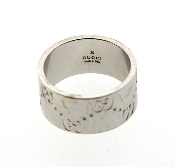 Gucci 18k Gold Wide Band Ring - 2