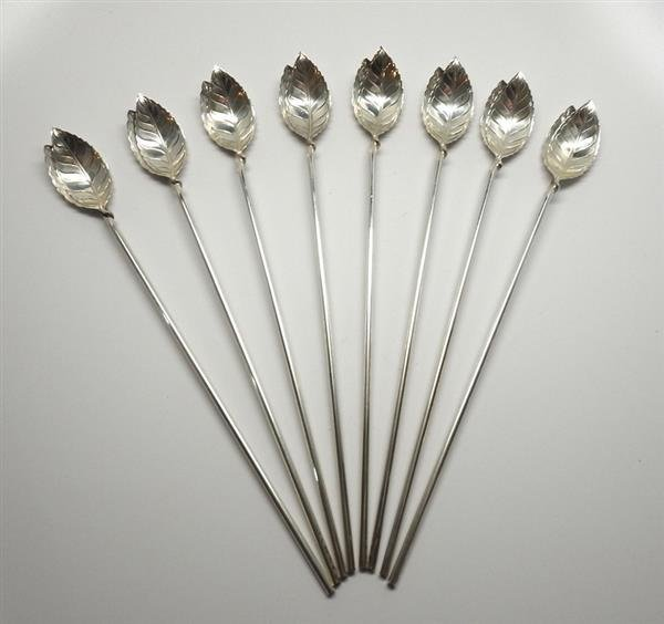 Tiffany & Co Sterling Ice Tea Spoon Set of 8