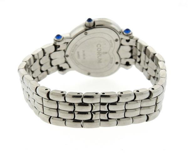 Corum Steel Diamond Mother of Pearl Heart Watch - 2