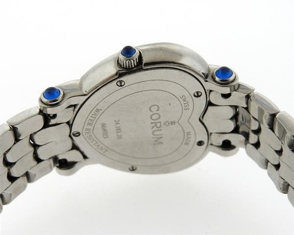 Corum Steel Diamond Mother of Pearl Heart Watch - 3