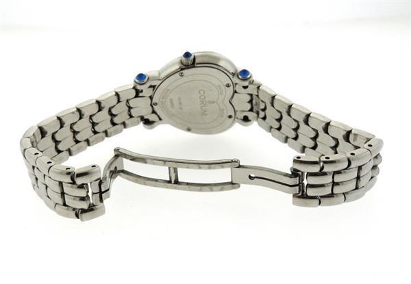 Corum Steel Diamond Mother of Pearl Heart Watch - 4