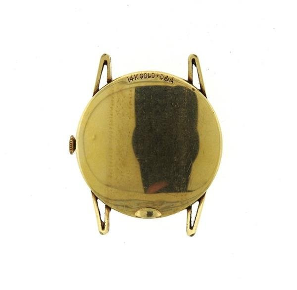 Vintage LeCoultre 14k Gold  Watch - 3