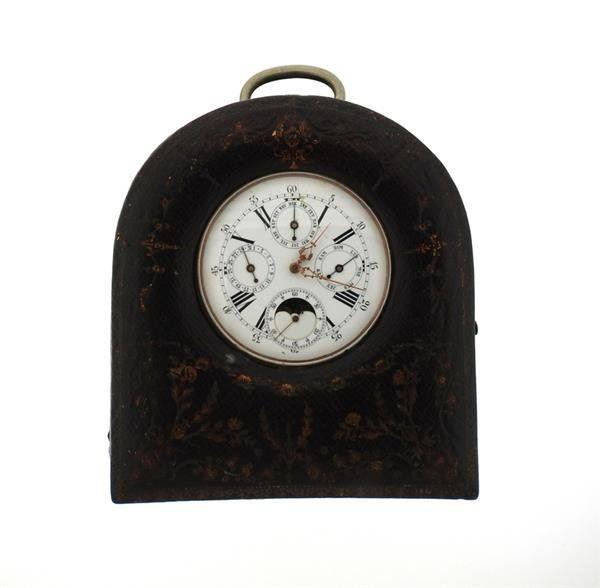 Antique Full Calendar Steel Pocket Watch Clock