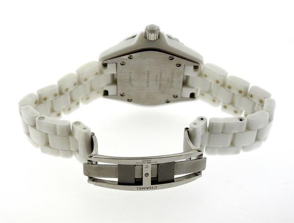 Chanel J12 White Ceramic Diamond Watch - 4
