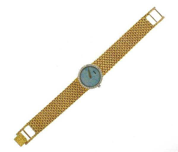 Piaget 18k Gold Diamond Opal Dial Watch