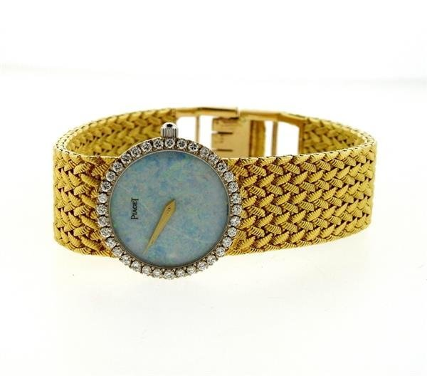 Piaget 18k Gold Diamond Opal Dial Watch - 2