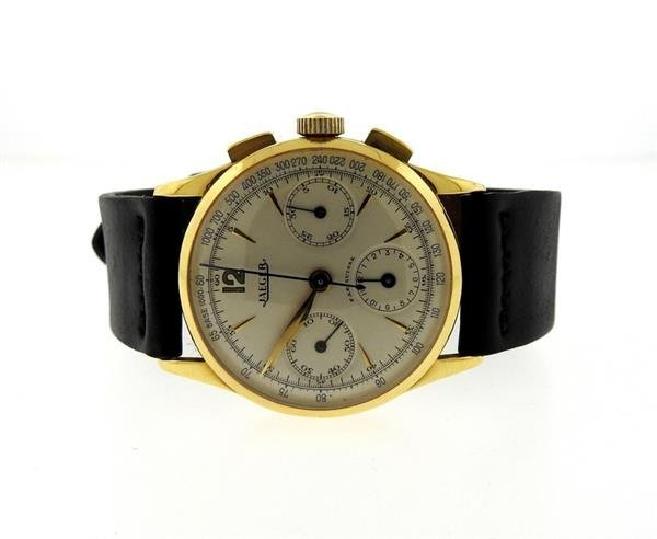 Rare Jaeger  Chronograph 18k Gold Compax UG 285 Watch