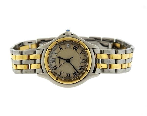 Cartier Cougar Two Tone Gold Steel Watch