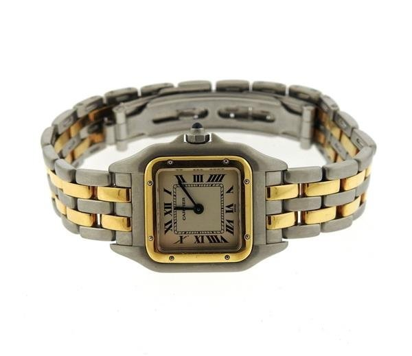 Cartier Santos 18k Gold Steel Watch