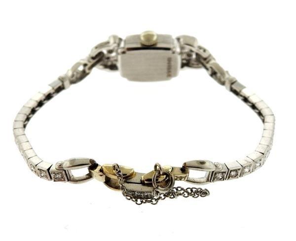 1950s Hamilton Platinum Diamond Watch Bracelet - 2