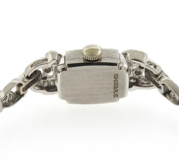 1950s Hamilton Platinum Diamond Watch Bracelet - 3