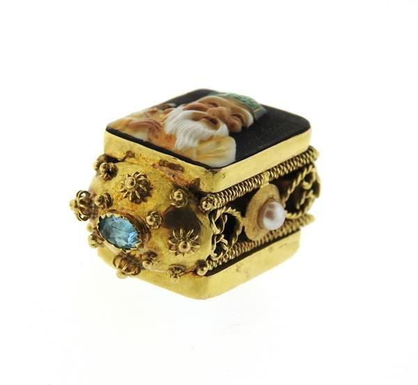 18K Gold Japanese Toshikane Pearl 3D Charm Pendant - 2