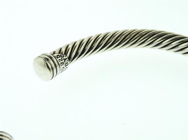 David Yurman 14K Gold Sterling Citrine Iolite Bracelet - 4