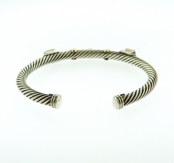 David Yurman 14K Gold Sterling Citrine Iolite Bracelet - 5