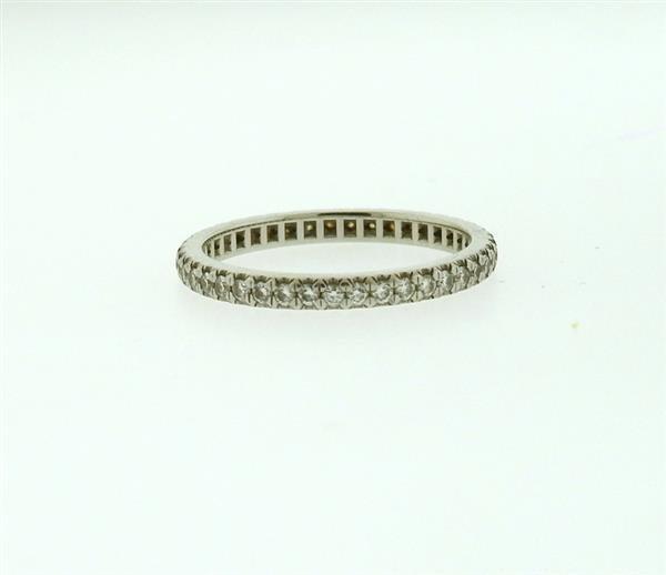 Tiffany & Co Platinum Diamond Eternity Band Ring - 2