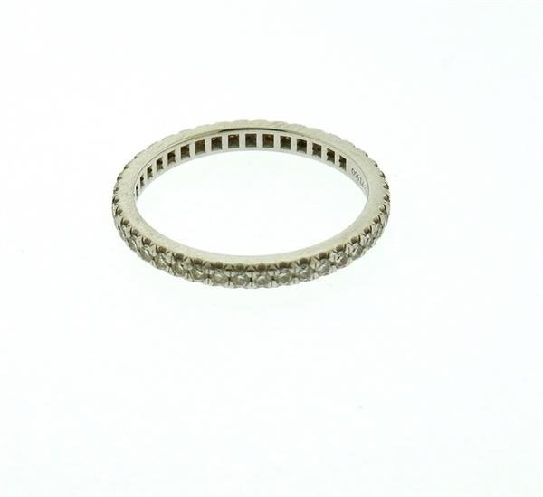 Tiffany & Co Platinum Diamond Eternity Band Ring - 3