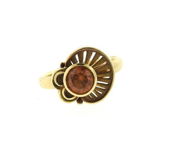 14K Gold Citrine Ring