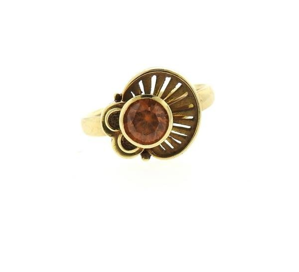 14K Gold Citrine Ring - 2